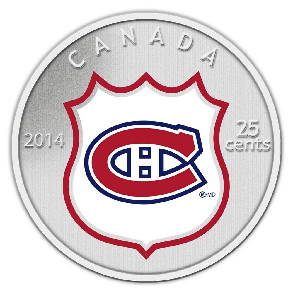25c 2014 NHL Coin and Stamp Gift Set Montreal Canadiens  75bd84f30fec