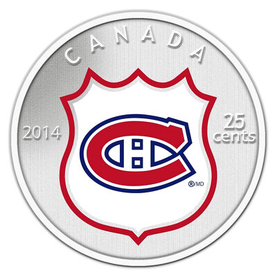 25c 2014 NHL Coin and Stamp Gift Set Montreal Canadiens