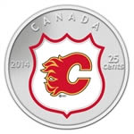 25c 2014 NHL Coin and Stamp Gift Set Calgary Flames
