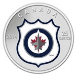 25c 2014 NHL Coin and Stamp Gift Set Winnipeg Jets