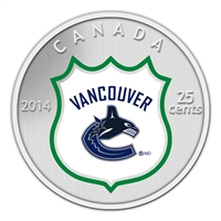 25c 2014 NHL Coin and Stamp Gift Set Vancouver Canucks