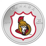 25c 2014 NHL Coin and Stamp Gift Set Ottawa Senators