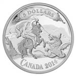 $5 2014 Fine Silver Coin - Canadian Bank Note Series: Saint George Slaying Dragon