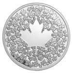 $3 2013 Fine Silver Coin - Maple Leaf Impression