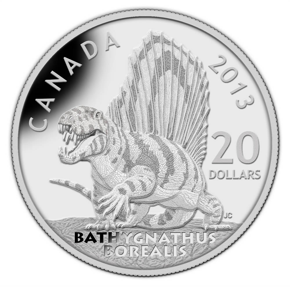 20 2013 Fine Silver Coin Dinosaurs Of Canada