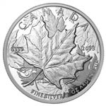 $5 2013 Fine Silver High Relief Piedfort - 25th Anniversary of the Silver Maple Leaf