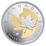 $50 2013 Fine Silver Coin - 25th Anniversary of the Silver Maple Leaf