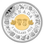 $5 2013 Fine Silver Coin - Birth of the Royal Infant
