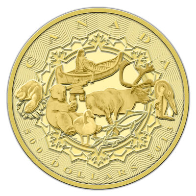 $500 2013 Pure Gold Coin - An Aboriginal Story