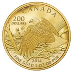 $200 2013 Pure Gold Coin - Bald Eagle Protecting Her Nest