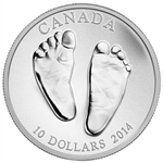 $10 2014 Fine Silver Coin - Welcome to the World