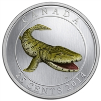 25c 2014 Coloured Coin - Tiktaalik