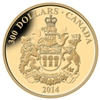 $300 2014 14kt Gold Coin - Provincial Coat of Arms - Saskatchewan