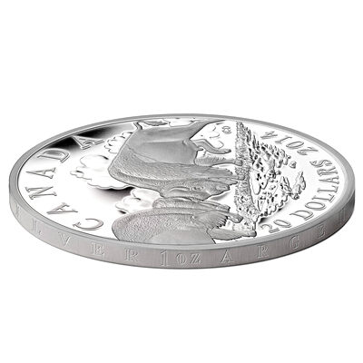 /'Bison: The Fight/' Canada 1 oz Fine Silver Coin 2014 Mintage: 7,500