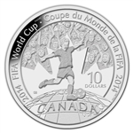$10 2014 Fine Silver Coin - 2014 FIFA World Cup™