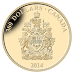 2014 $300 14Kt Gold Coin - Canadian Coats of Arms - Canada