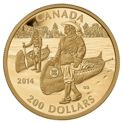 $200 2014 Pure Gold Coin - Great Canadian Explorers Series: Samuel de Champlain