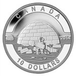 $10 2014 Fine Silver Coin - O Canada - The Igloo