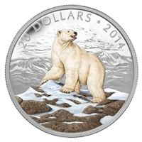 $20 2014 Fine Silver Coin - Iconic Polar Bear