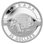 $25 2014 Fine Silver Coin - O Canada - The Igloo