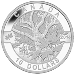 2014 $10 Fine Silver Coin - O Canada - Down by the Old Maple Tree