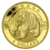 $5 2014 Pure Gold Coin - O Canada - Grizzly Bear