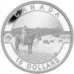 2014 $10 Fine Silver Coin - O Canada - The Canadian Cowboy
