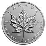 $5 2014 Fine Silver Coin - High Relief Special Edition Maple Leaf with World Money Fair Privy Mark