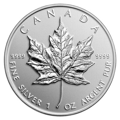 $5 2014 Fine Silver Coin - High Relief Special Edition $5 Maple Leaf