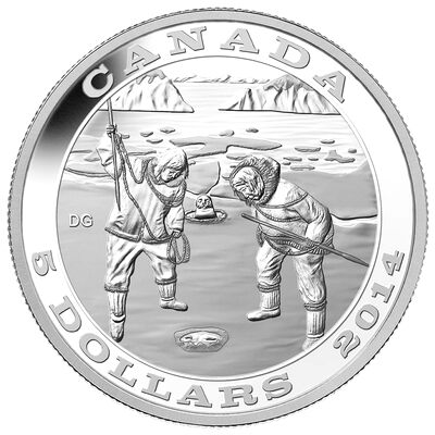 2014 $5 Silver Coin - Tradition of Hunting:  The Seal