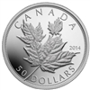 $50 2014 Fine Silver Coin - Maple Leaves