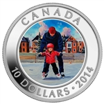 $10 2014  Fine Silver Coin - Learning to Skate