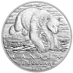 2014 $50 Fine Silver Coin - Iconic Polar Bear