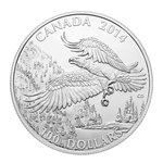 $100 2014 Fine Silver Coin - Majestic Bald Eagle