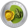 2014 25-Cent Coloured Coin Water-Lily And Leopard Frog