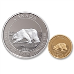 2013 Pure Gold and Silver 2-Coin Set Polar Bear