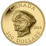 2014 $200 Pure Gold Coin - 75th Anniversary of the First Royal Visit