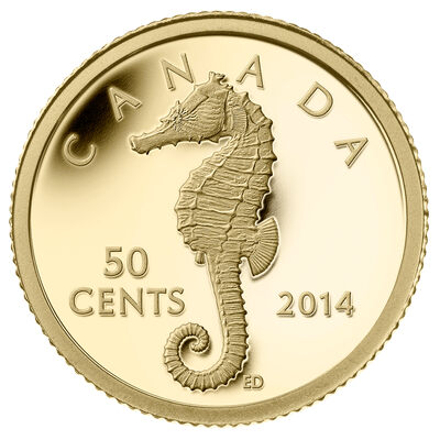 2014 50-Cent Pure Gold Coin - Sea Creatures: Seahorse