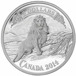 2014 $5 Fine Silver Coin - Bank Note Series: Lion on the Mountain