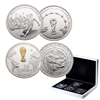 2014 FIFA World Cup Brazil Official Sterling Silver Coin Set