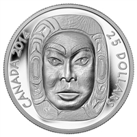 2014 $25 Fine Silver Coin Matriarch Moon Mask