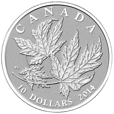 2014 $10 Fine Silver Coin - Silver Maple Leaf