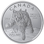 2014 $20 Fine Silver Coin - The Bobcat