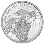 2014 $20 Fine Silver Coin Nanaboozhoo And The Thunderbird'S Nest