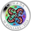 2014 $10 Fine Silver Coin - First Nations Art: Salmon