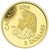 2014 $5 Pure Gold Coin - Bald Eagle