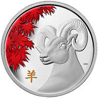 2015 $250 Fine Silver Coin - Year of the Sheep