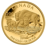 2014 $200 Pure Gold Coin - The Bison: At Home on The Plains