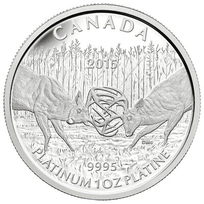 2015 $300 Platinum Coin - The White-tailed Deer: The Battle