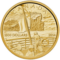 2014 $1000 Pure Gold Coin - 100th Ann. Of the Declaration of the First World War